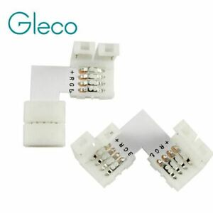 5pcs 4 pin LED Connector L Shape For connecting corner right angle 10mm 5050 LED