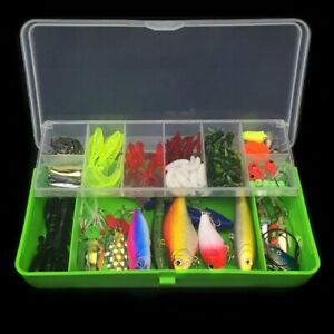 101PcsBox Multifunction Trout Bass Fishing Lures Crankbaits Set Kit