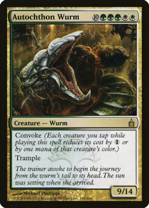 MTG X1: Autochthon Wurm, Ravnica, R, Light Play