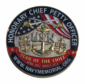 USN Honorary Chief Petty Officer President's Volunteer Service Challenge Coin