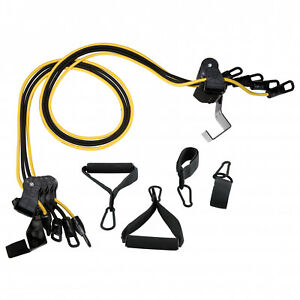 HOME GYM EQUIPMENT Total Body Fitness Workout Door Attached Resistance Bands