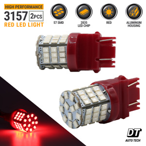 3157 Red LED Brake Stop Parking Tail Light Bulbs Ford F 150 Mustang