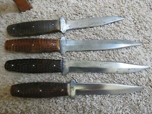 Antique Case XX Hunting fix blade knives (lot#13978)