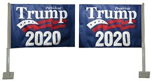 12x18 President Trump 2020 Rough Tex Knit Double Sided 12quot;x18quot; Car Vehicle Flag