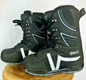 Vans Probo Snowboarding Boots Womens Size 8 Black with Blue and White Trim