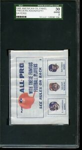 1966 American Oil Football Card Panel Gale Sayers Rookie SGC 30 Good 2 $99.75
