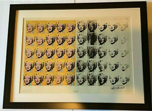 Marilyn Monroe 50 Shades Diptych Rare Lithograph Signed By Andy Warhol Pop Art