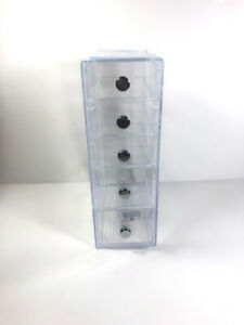 iDesign Clear Plastic Cosmetic 5 Drawer Tower Organizer N2 OPEN BOX *DAMAGED*