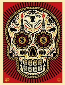 Shepard Fairey Power & Glory Skull Art Print Poster Signed and numbered  450