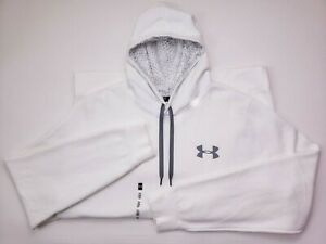 Under Armour White Hoodie 3XLT Tall Mens Hooded Sweatshirt Rival Loose Fit