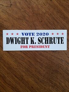 Dwight Schrute For President Bumper Stickers! The Office Humor