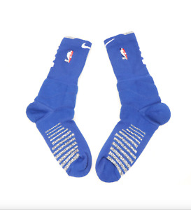 New Nike XL NBA Authentics Team Issued Detroit Pistons Crew Socks Blue Gray $22.45
