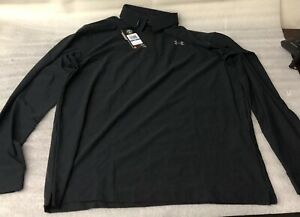 UNDER ARMOUR Mens Performance Playoff Golf Polo Shirt Black 1285067 NWT XLT