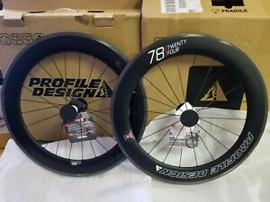 Profile Design 78 TwentyFour Carbon Wheelset  Deep V-Rim (Front And Rear) New!