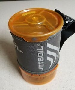 JETBOIL SOL STOVE. USED. LACKING BURNER ASSEMBLY.