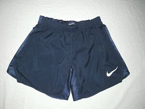 Nike Men's Fit Dry Navy Blue Running Lined Shorts Size S Waist 27