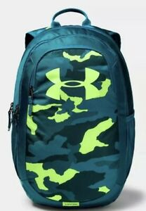 UA Under Armour Scrimmage Storm Backpack New With Tags Neon Camo Unisex