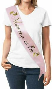 MOMMY TO BE Baby Shower Sash with Gold Foil Lettering Baby Shower Gifts Gender