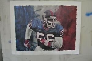 "Lawrence Taylor (NY Giants) Painting in artist oils by Artist Joe BLAH…36""x 48"
