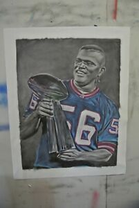 "Huge Lawrence Taylor (NY Giants) oil painting   by Artist Joe BLAH…36""x 42"""