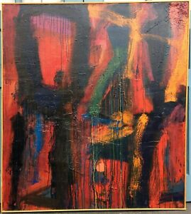 Large Format DANIEL BUCKLER 20th c. American ABSTRACT EXPRESSIONIST PAINTING