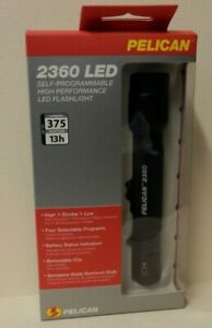 Pelican 2360 - Police Tactical 2 Cell AA LED Flashlight 375 Lumen Strobe Police