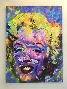Marilyn Monroe Art Painting Large Canvas Reprint Abstract Andy Warhol 30
