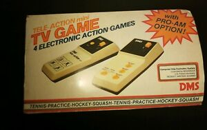 Vintage Tele-Action Mini TV Game 4 Electronic Games DMS Tested 1970's Magnavox