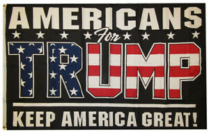 Americans For Trump Keep America Great! 100D Woven Poly Nylon 3x5 3'x5' Flag