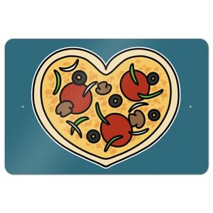 Heart Pizza Pie Love Home Business Office Sign