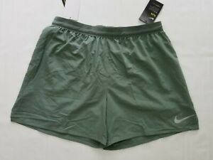 """NWT Nike Men's Flex Stride 5"""" Lined Running Shorts AT4000 Green 365 Size L"""