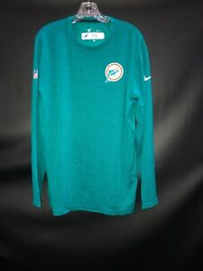 HEAD COACH ADAM GASE MIAMI DOLPHINS GAME USED DRI-FIT LONG SLEEVE SHIRT XL