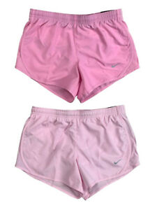 Nike Girls Dri Fit 3 Tempo Classic Running Shorts w Liner Pink Shades New $19.97