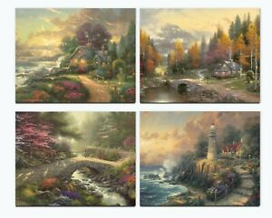 Thomas Kinkade Studios Faith and Peace Set of 4 Art Prints