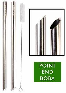 2 BOBA Straw Stainless Steel Extra Wide 1/2