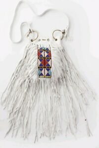 Vintage Spell & the Gypsy Collective Designs Coachella Tassel Bag - White