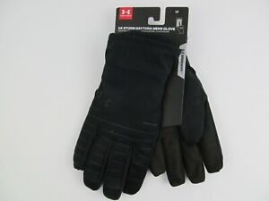 Under Armour Storm ColdGear Daytona Mens Large Quilted Speedwipe Black Gloves