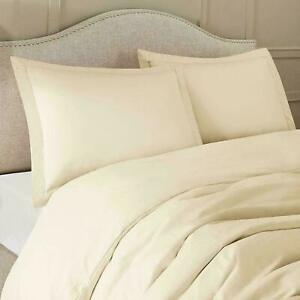 400/600/800/1000 TC 100% Egyptian Cotton Home~Quality Ivory/Cream Solid US~Size