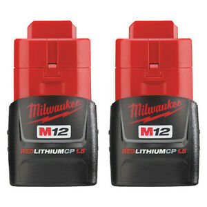 MILWAUKEE 48-11-2411 M12™ REDLITHIUM™ 12V 1.5Ah CP1.5 Compact Battery Pack (PK2)