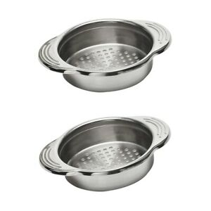 2pcs Kitchen Can Tin Food Drainer Tuna Sweetcorn Strainer Stainless Sieve