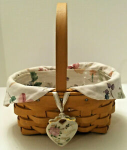 Longaberger 1999 Horizon Of Hope Basket Combo - Liner, Protector