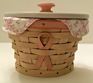 Longaberger 2005 Horizon Of Hope Basket Combo - Liner, Protector,
