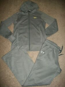GUC! WOMENS SIZE L UNDER ARMOUR GRAY STORM LOOSE APPLIQUED LOGO HOODIE 11179 $16.99