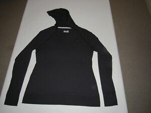 UNDER ARMOUR WOMEN'S BLACK HEAT GEAR SEMI-FITTED LONG SLEEVE HOODED SHIRT SIZE L