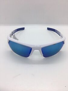 UNDER ARMOUR IGNITER 2.0 SUNGLASSES SHINY WHITEBLUE MIRROR LENS MSRP$104.99