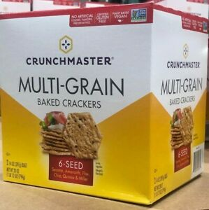 Crunchmaster Oven Baked Crunchy Multi Grain Crackers 28 Oz # 6 Seed