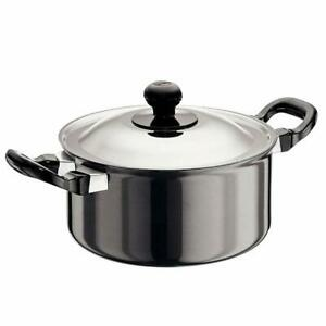 Hawkins H/A 2 L Cook n Serve Stewpot 18 cm Cooking Bowl With Stainless Steel Lid