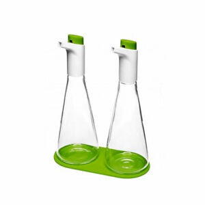 RenGard Salt and Pepper Grinder Set Stainless Steel and Glass With Stand 7.5