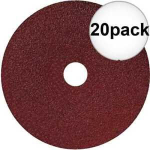 Sait 50032 20pk 7quot; x 7 8quot; 36 Grit Resin Fiber Disc for Sanders and Grinders New