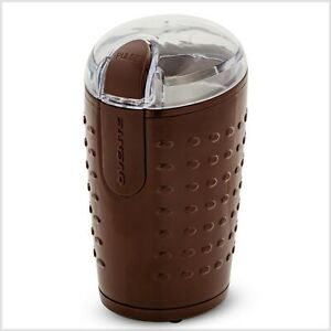 Ovente Electric Coffee Grinder 2.5 Oz Stainless Steel 150W Brown CG225BR